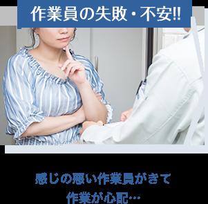 作業員の失敗・不安!!